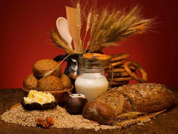 Крупы и хлебобулочные изделия полезные советы, хлеб, молоко, бублики