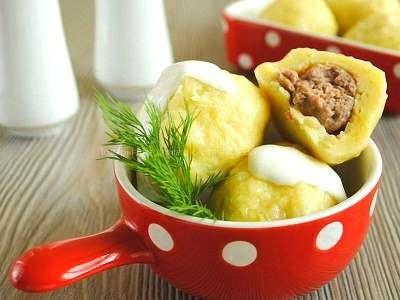 Как приготовить клецки картофельные с мясом рецепт с фото пошаговый