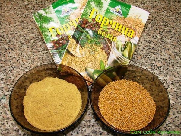 горчица порошковая и в зернах