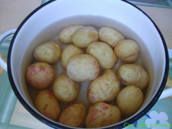 варим молодой картофель