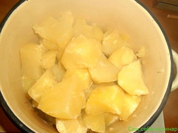 картошку слить