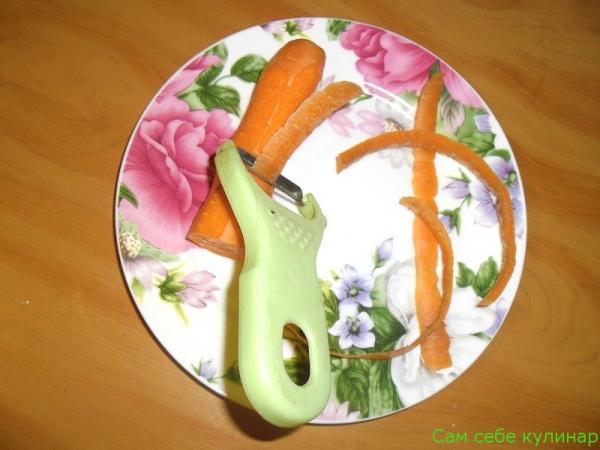 морковь очистить