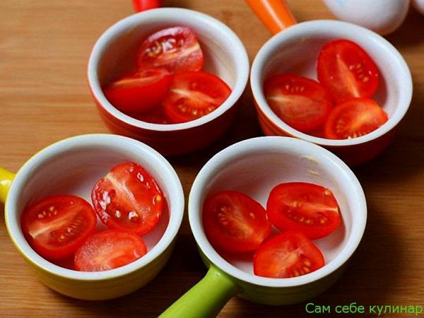 помидоры выложить в формочки