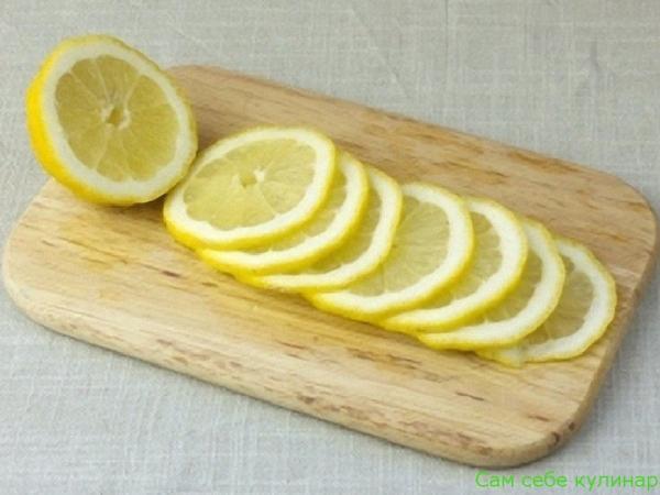 лимон нарезанный кружочками