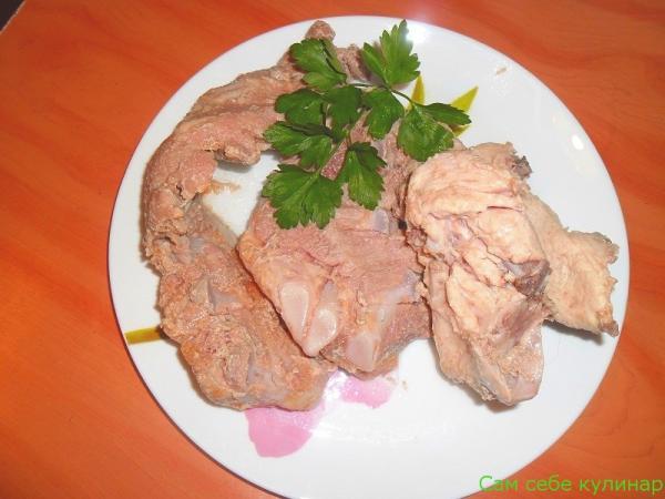 отварное мясо на кости