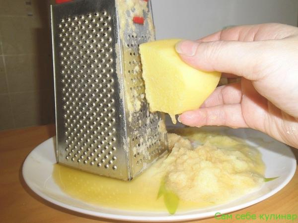 натереть картошку на мелкой терке