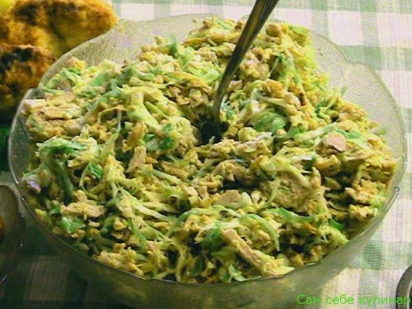 смешать все ингредиенты салата