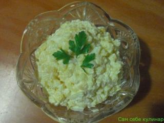 Картофельный салат простой (фоторецепт)