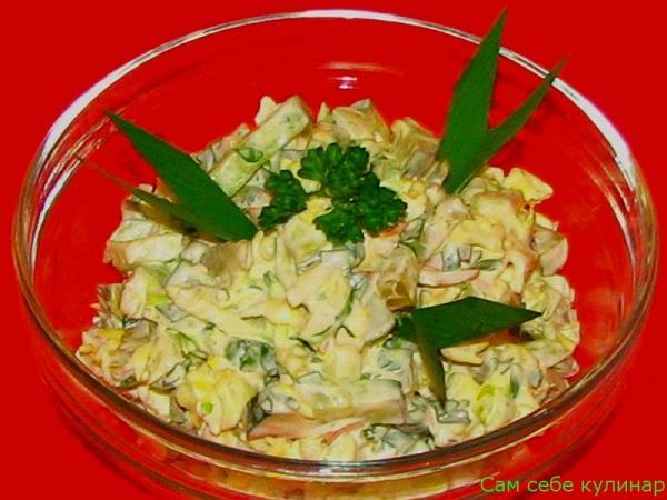 Салат капустный с мясом рецепт с фото пошаговый