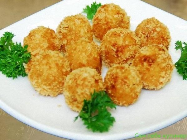Сырные шарики простые жареные рецепт с фото
