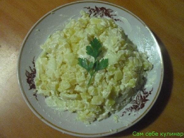 Картофельный салат простой