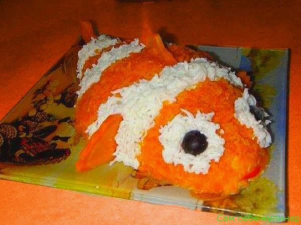 Салат из моркови с сыром и чесноком оформление блюда