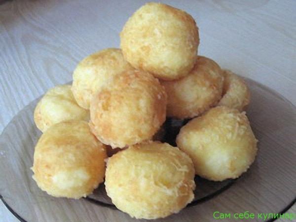 Сырные шарики простые жареные рецепт с фото пошаговый