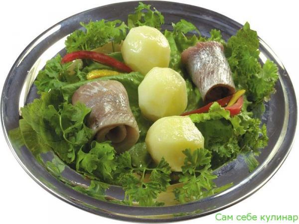 филе сельди с картошкой оформление