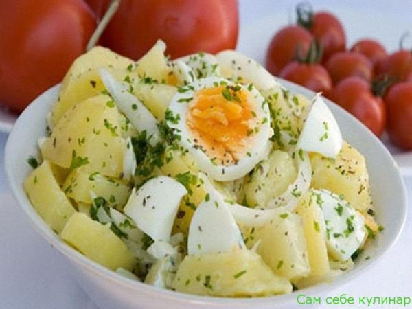 Салат картофельный с яйцами рецепт с фото пошаговый