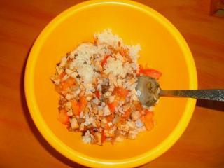 рис смешать с курицей