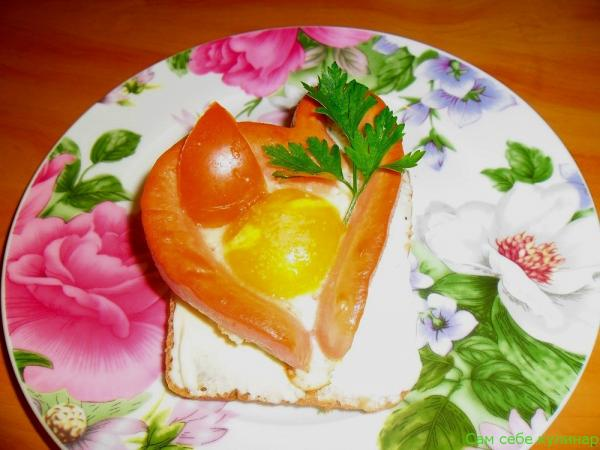 Яичница сердечки рецепт с фото пошаговый