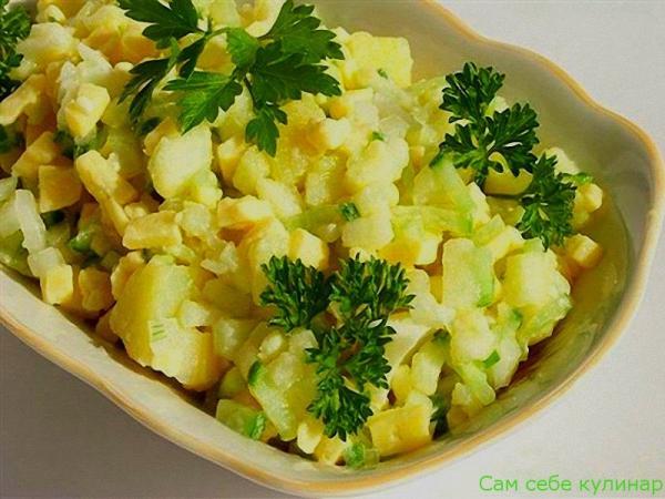 Картофельный салат Весенний рецепт с фото