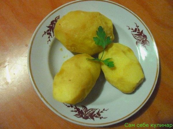 картошка в мундире очищенная