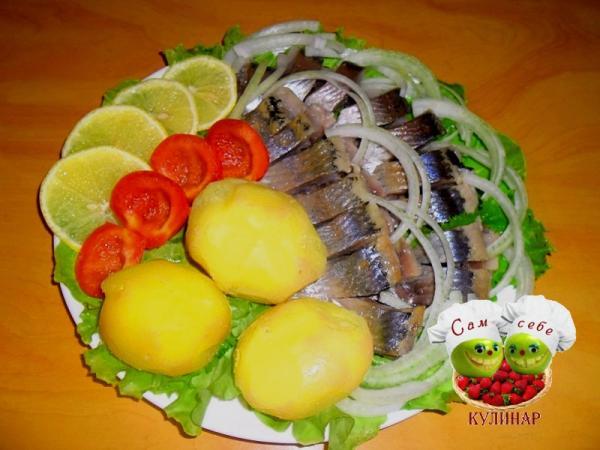 селедка с картошкой луком лимоном