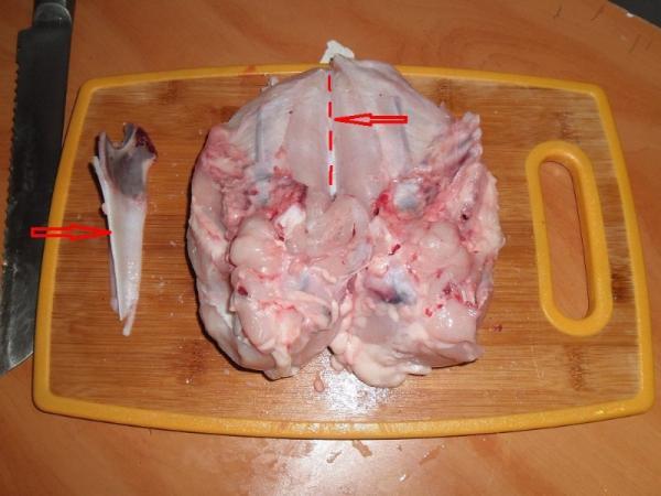 куриная грудка с хрящевой костью