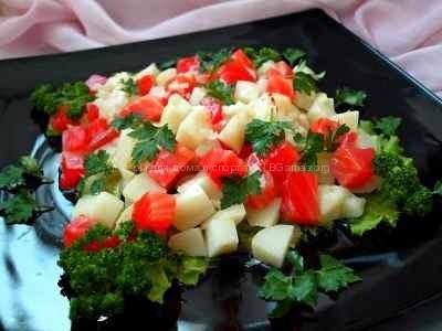 Картофельный салат с семгой рецепт с фото пошаговый