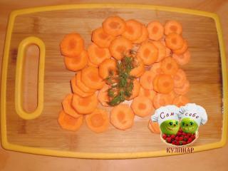 морковь нарезанная кружочками