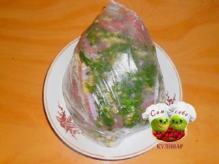 сало с чесноком  пошаговый рецепт с фото