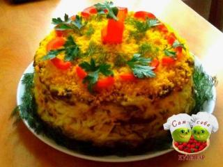 торт из печени пошаговый рецепт с фото