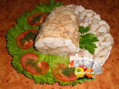 Куриный рулет мраморный рецепт с фото пошаговый