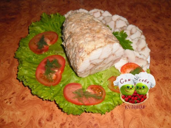 куриный рулет пошаговый праздничный рецепт с фото