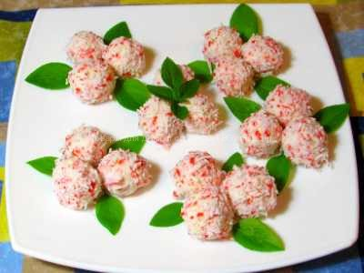 Салат сырные шарики рецепт с фото