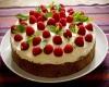 торт украшенный малиной мятой