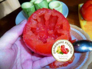 помидор очищенный от сердцевины