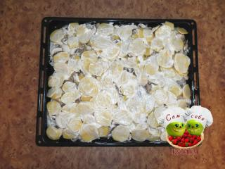 картофель смажем майонезом