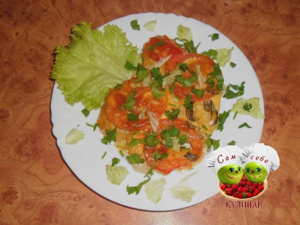 мясо по французски помидоры зелень
