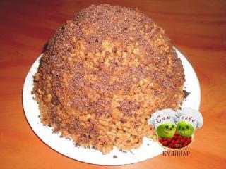 торт посыпанный тертым шоколадом