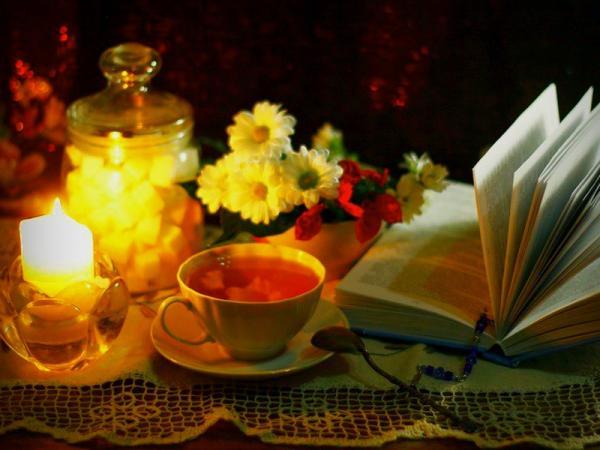 чаепитие, уютная обстановка, чашка с чаем
