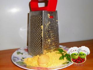 желтки натертые на терке