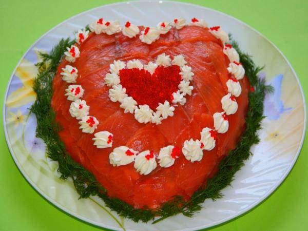 праздничный салат сердце