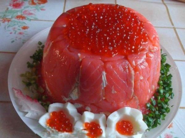 икра красная рыба лук зеленый