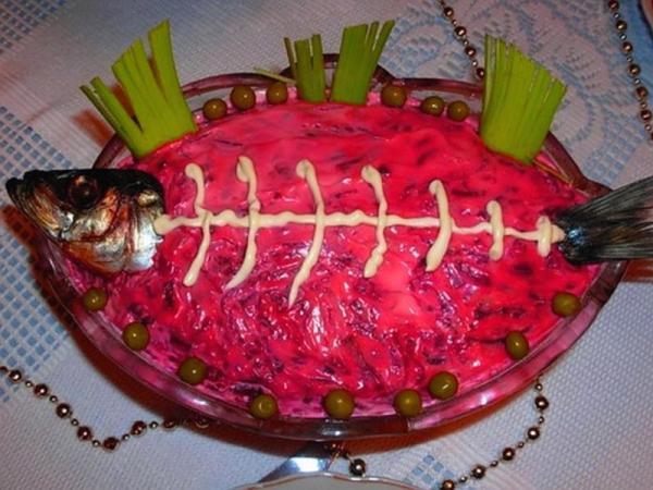 скелет рыбы голова и хвост рыбы майонезная сеточка
