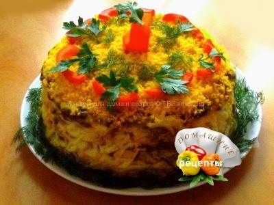 Торт из печени рецепт с фото пошаговый