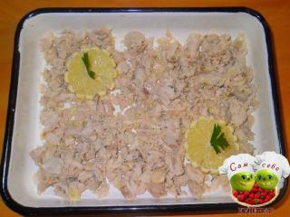 лимон кладем на мясо
