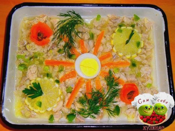 Холодец из курицы - праздничные блюда - рецепты с фото