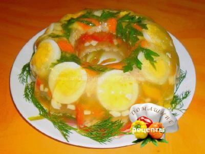 Заливное из курицы рецепт с фото пошаговый