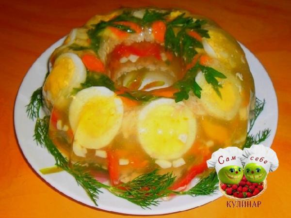 Заливное из курицы рецепты заливного с фото