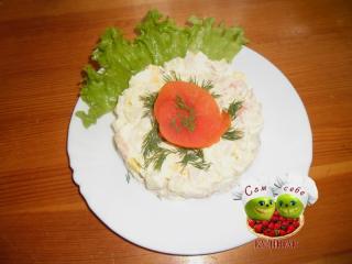 салат с креветками рецепт с фото