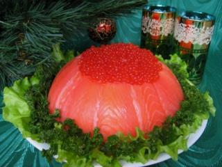 праздничный рыбный торт