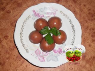 окрашенные крышечки от яиц